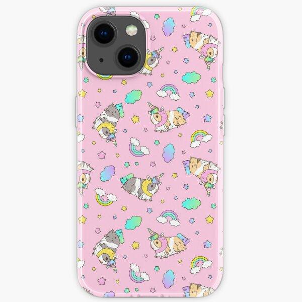 Piggycorn Pattern in pink  iPhone Soft Case