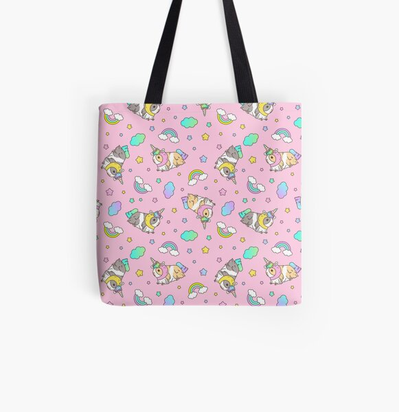 Piggycorn Pattern in pink  All Over Print Tote Bag