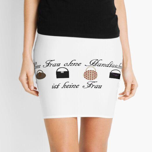 Frau ohne Handtaschen Minirock