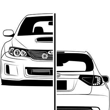 Subaru Impreza GH Best Shirt Design by CarWorld