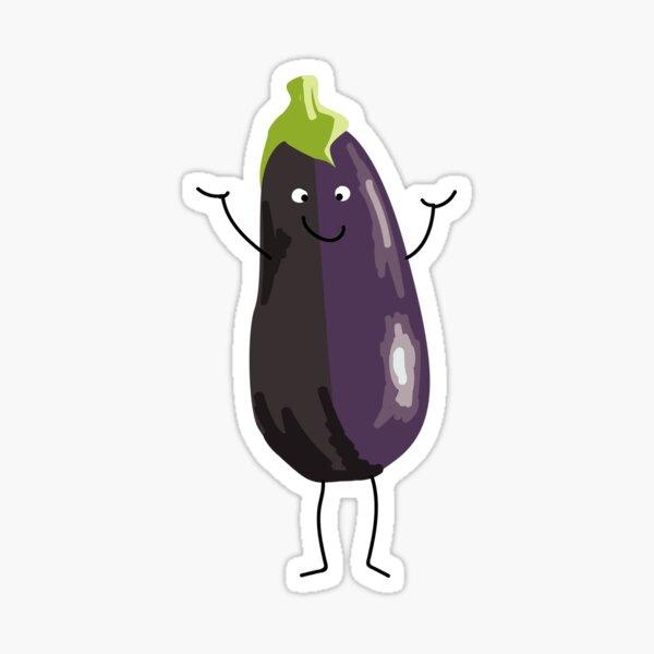 Mr Eggplant  Sticker