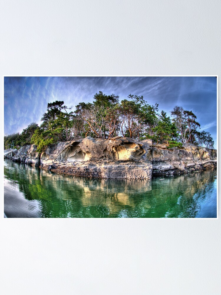 Alternate view of Shoreline at Edith Point, Mayne Island Poster