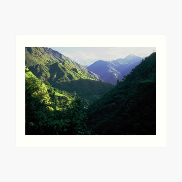 On the Annapurna trail Art Print
