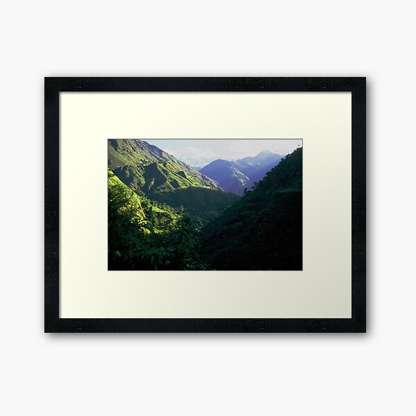 On the Annapurna trail Framed Art Print