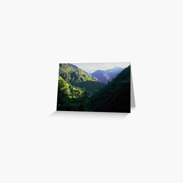 On the Annapurna trail Greeting Card