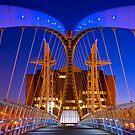 Salford Quays Millennium Bridge - Salford by Yen Baet
