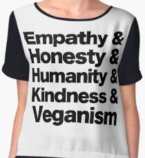 Empathy, Honesty, Humanity, Kindness & Veganism  Chiffon Top