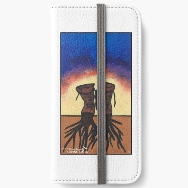 Boot Strapped Roots iPhone Wallet