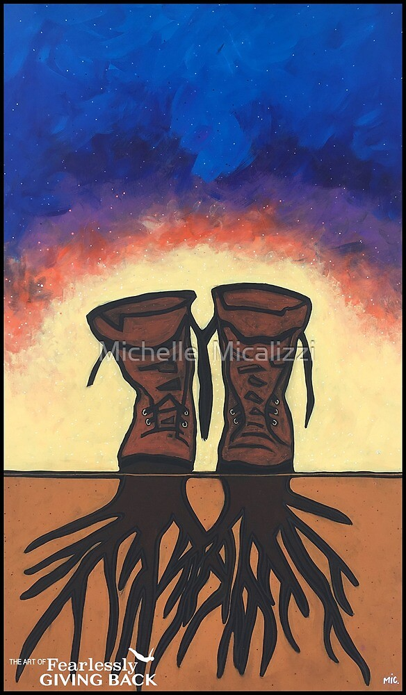 Boot Strapped Roots by Michelle  Micalizzi