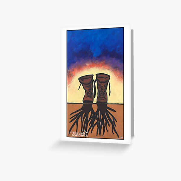 Boot Strapped Roots Greeting Card
