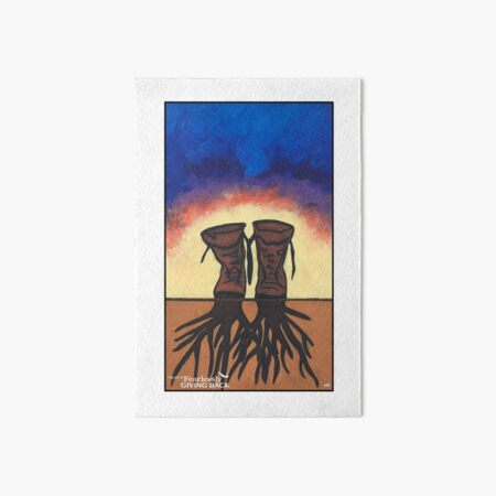Boot Strapped Roots Art Board Print