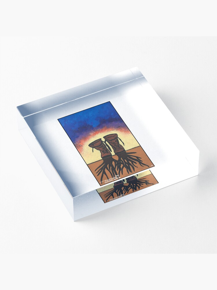 Alternate view of Boot Strapped Roots Acrylic Block