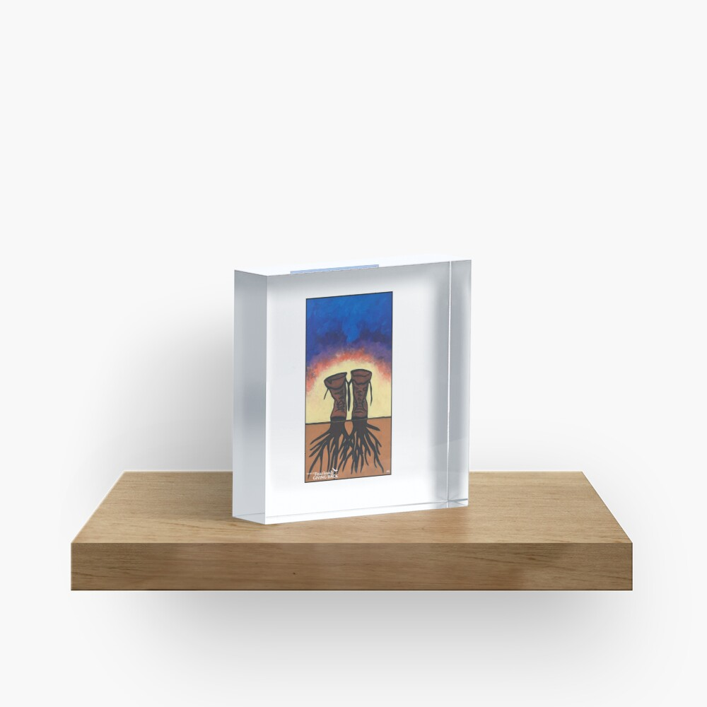 Boot Strapped Roots Acrylic Block