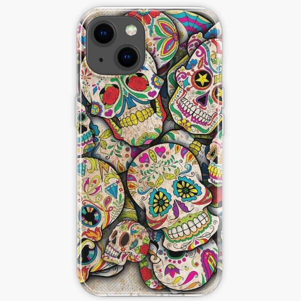 Sugar Skull Collage iPhone Soft Case