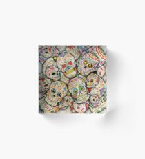 Sugar Skull Collage Acrylic Block
