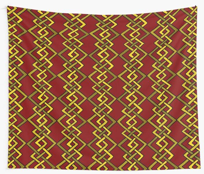 Kili Gold on Red Dwarven Knot by Jezunya