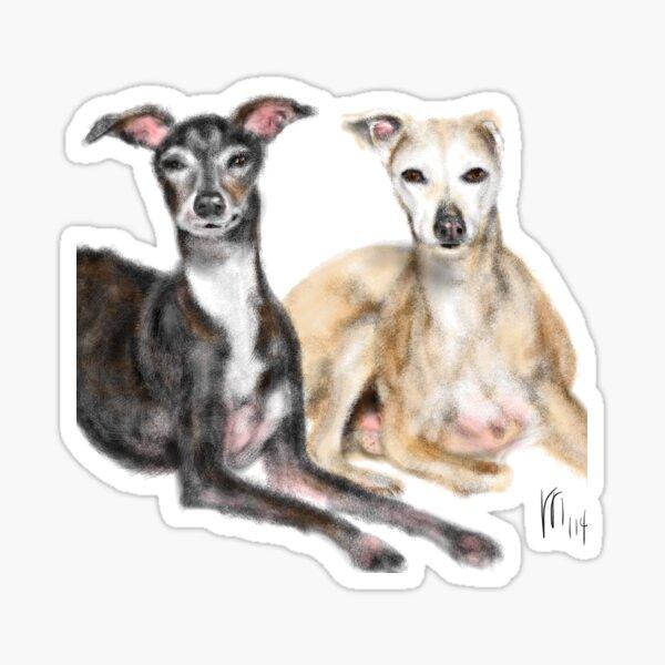 A Pair of Greyhound Best Friends  Sticker