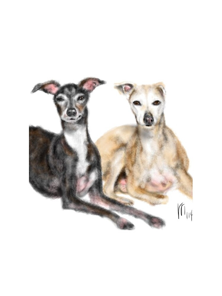A Pair of Greyhound Best Friends  by LITDigitalArt