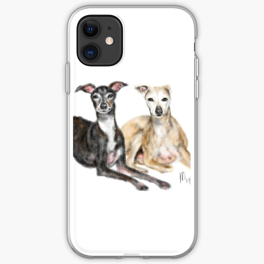A Pair of Greyhound Best Friends  iPhone Case & Cover
