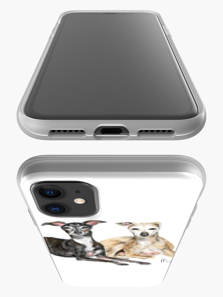 Alternate view of A Pair of Greyhound Best Friends  iPhone Case & Cover