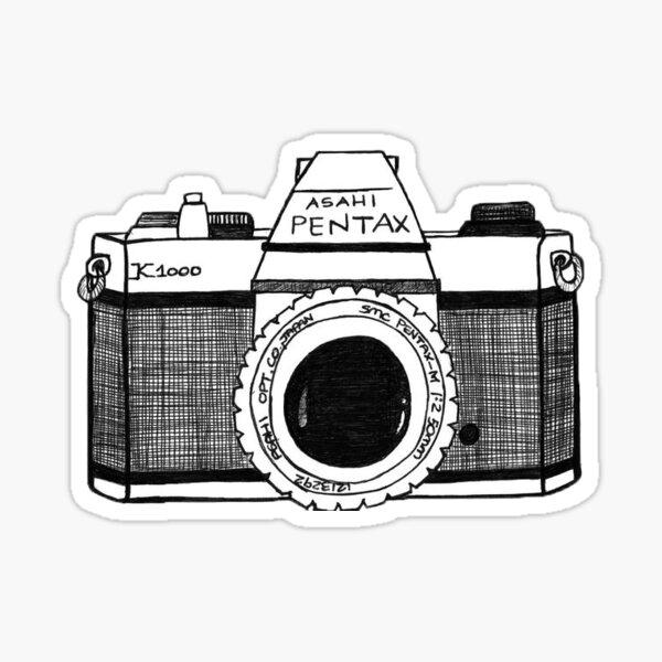 pentax k1000 sketch Sticker