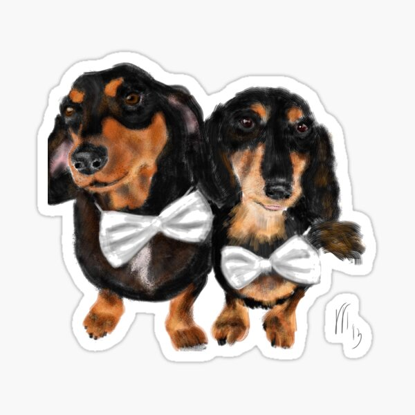 Happy Dachshunds Best Friends  Sticker