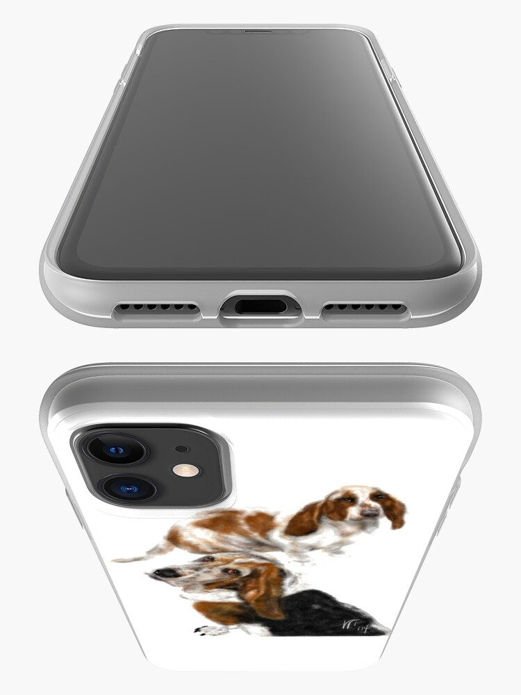 Alternate view of Happy Basset Hound Best Friends  iPhone Case & Cover