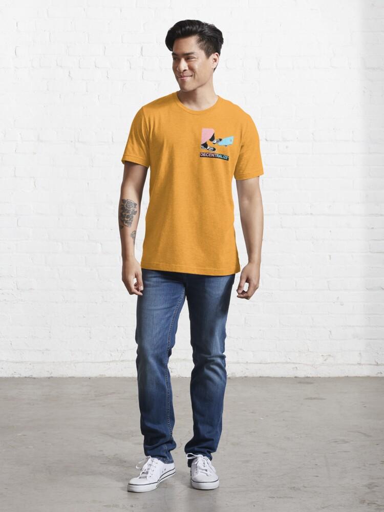 Alternate view of SkatE Label , decentralize *  Essential T-Shirt