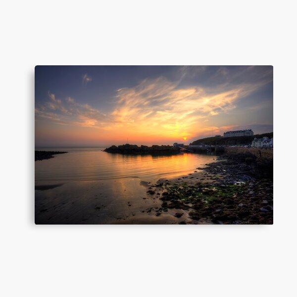 Portpatrick Harbour at Sunset Canvas Print