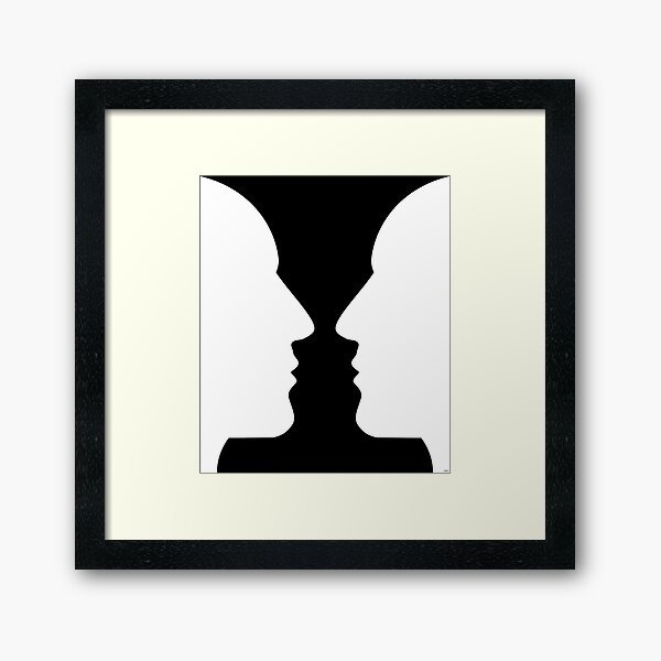Optical Illusion Vase Framed Art Print