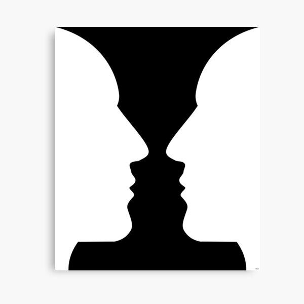 Optical Illusion Vase Canvas Print