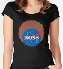 Space Bob Ross Women's Fitted Scoop T-Shirt