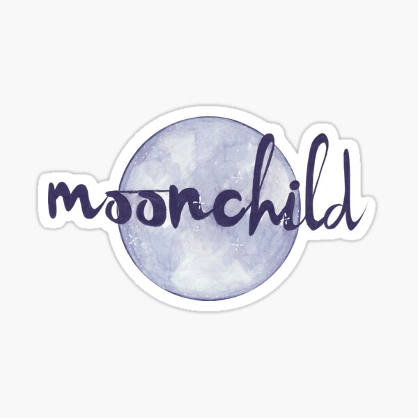 Moonchild. Sticker