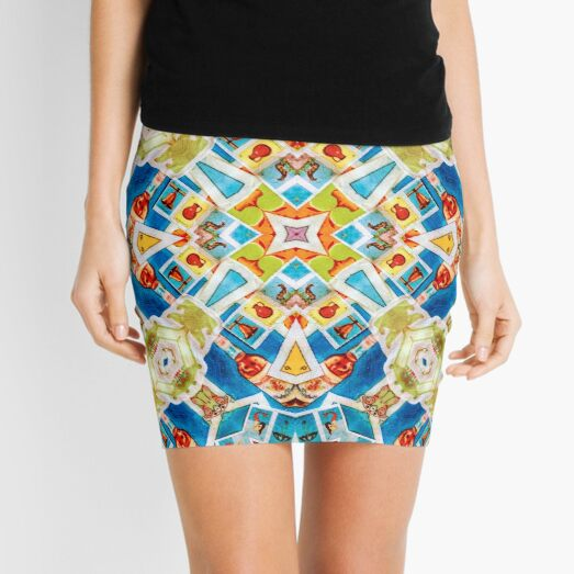 Lotería Mexican Lottery Cards Pattern Mini Skirt