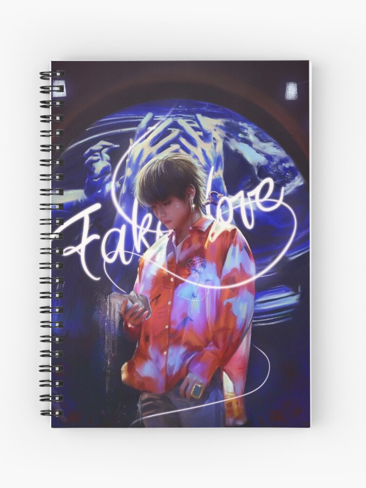 Bts Tear Fake Love Taehyung Spiral Notebook By Ellen Drawings Redbubble