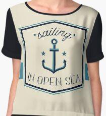 Sailing in the Open sea Chiffon Top