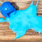Blue paint splat   spilled blue paint by Chris Warham
