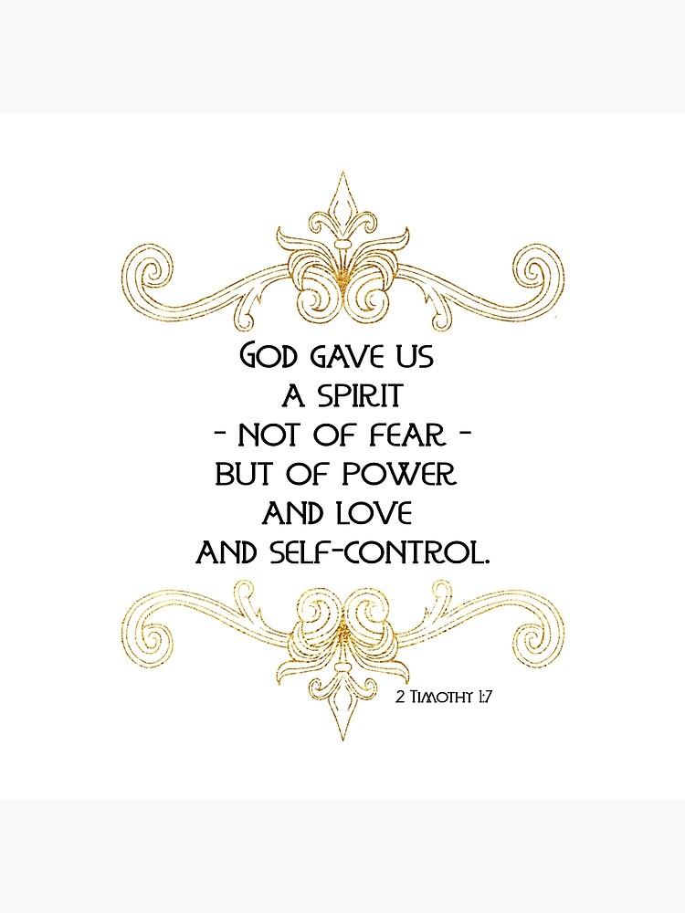 Gott gab uns einen Geist der Kraft | Bibel Vers von PraiseQuotes