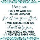 Fürchte dich nicht, weil ich mit dir bin Jesaja 41:10 von PraiseQuotes