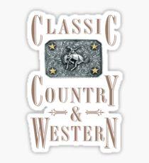 Classic Country & Western (Bucking Bronco) Sticker
