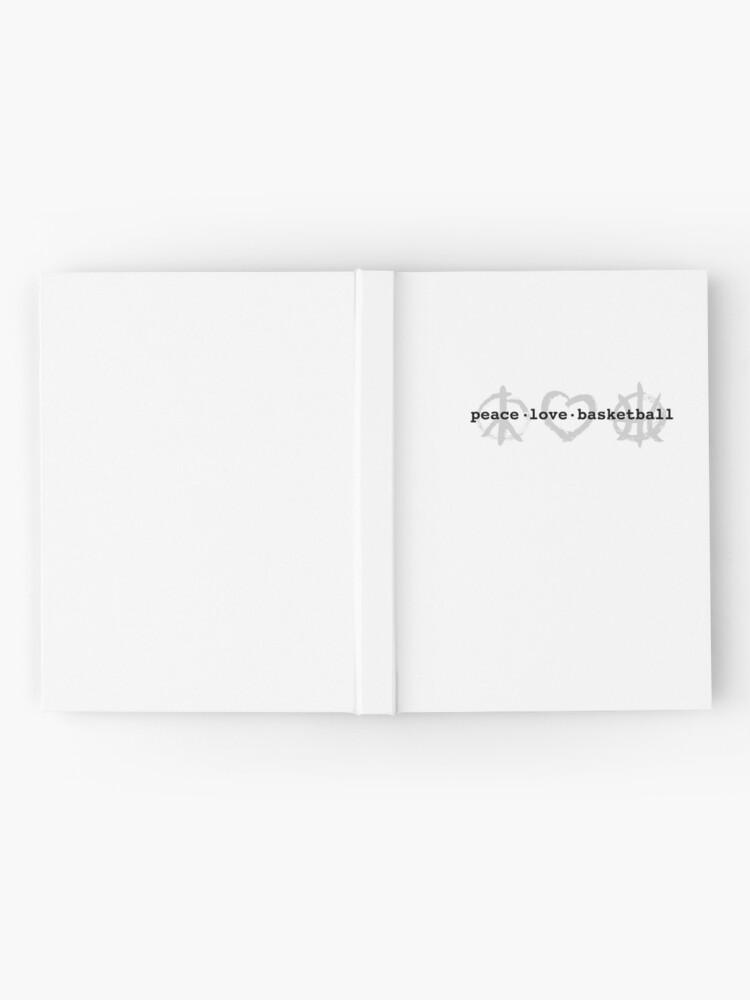 Alternate view of PeaceLoveBasketball  Hardcover Journal