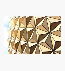 Spaceship Earth at Sunset Photographic Print