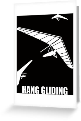 'Three hang gliders flying in the sky' Greeting Card by MegaSitioDesign