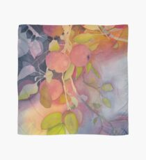 Autumn Apples Watercolor Painting Scarf
