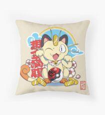 Maneki Meowth Throw Pillow
