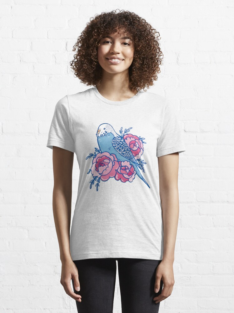 Alternate view of Pastel Budgie Essential T-Shirt