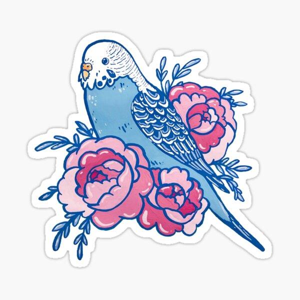 Pastel Budgie Sticker
