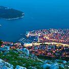 Walled City View of Dubrovnik, Croatia by Yen Baet