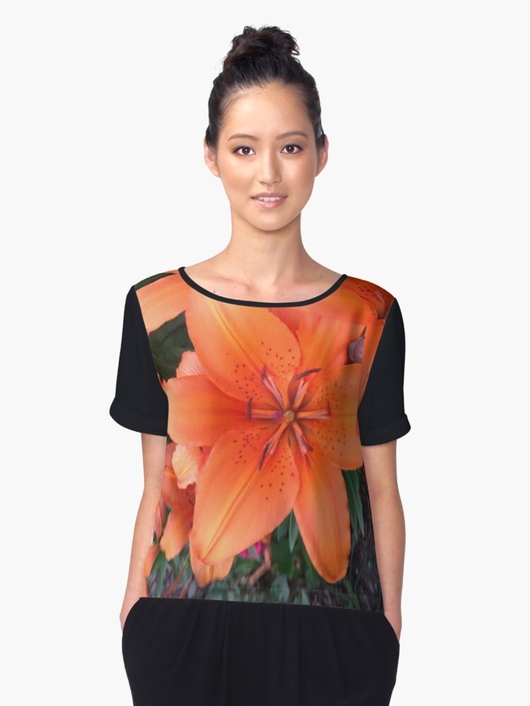 Photo of Tiger Lilies 2 Women's Chiffon Top Front