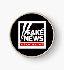 News Shirt from the Fake News Network Funny And Sarcastic T-Shirt Clock